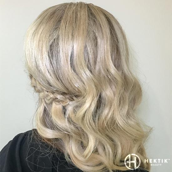 wavy hair side braid